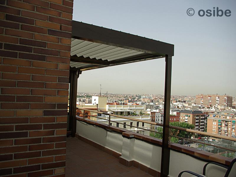 Pergola de lamas orientables pergolas de lamas orientables - Pergolas de aluminio para terrazas ...